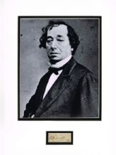 Benjamin Disraeli Autograph Signed Display